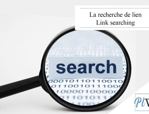 La recherche de lien Link searching